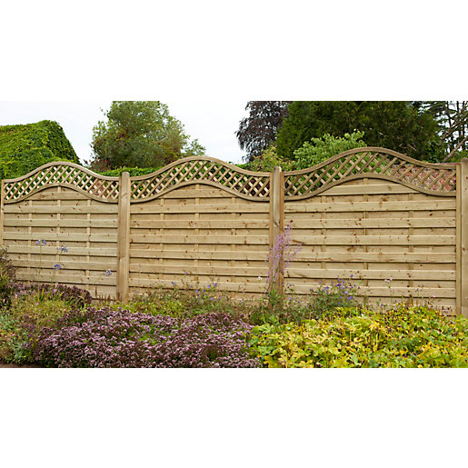 Europa Prague Fence Panel 1800mm x 1800mm - Pack of 3