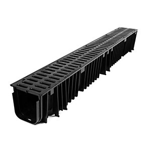 Clark-Drain Plastic Channel with Slotted Grate 1m