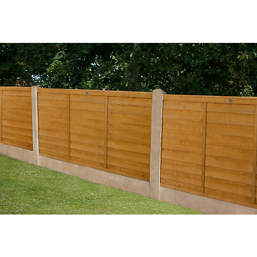 6ft x 3ft 1.83m x 0.91m Dip Treated Overlap Fence Panel - Pack of 3