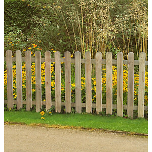 Pressure Treated Heavy Duty Pale Fence Panel 6ft x 3ft (1.8m x 0.9m) - Pack of 4
