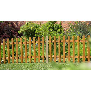 6ft x 3ft (1.83m x 0.9m) Pale Picket Fence Panel - Pack