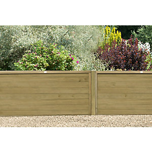 Pressure Treated Horizontal Tongue and Groove Fence Panel 4ft (1.83m x 1.22m) - Pack of 3