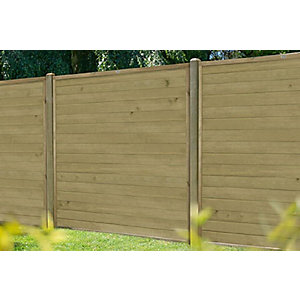 6ft (1.83m x 1.83m) Pressure Treated Horizontal Tongue and Groove Fence Panel Pack