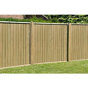 5ft (1.83m x 1.52m) Pressure Treated Vertical Tongue and Groove Fence Panel Pack