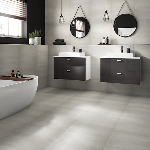 Verona Stone Westside Silver 300 x 600mm Glazed Porcelain Wall & Floor Tile