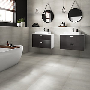 Westside Silver 300 x 600mm Glazed Porcelain Wall & Floor Tile