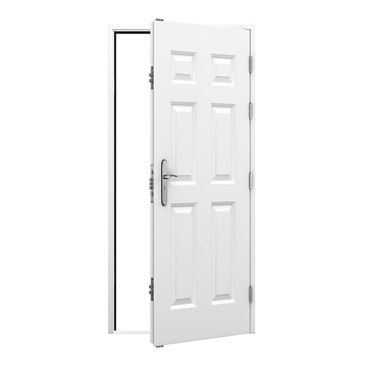 Lathams 6 Panel Steel Door 845 x 2020mm Rh Outward