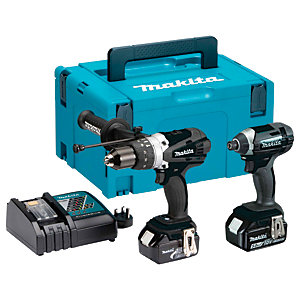 """Makita DLX2145TBJ 18V Lxt Twin Pack in   Black C/W 2 x 5.0AH Li-ion Batteries, Charger and Case"""""""