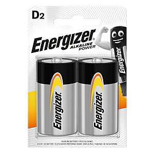 Energizer Alkaline Power D E95 BP Batteries 2 Pack