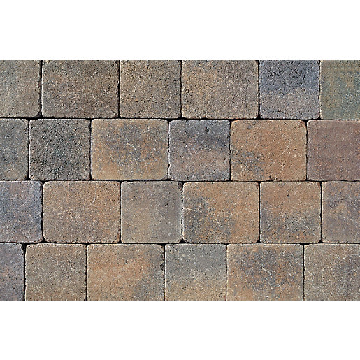 Tobermore Tegula Bracken decorative Concrete Block Paving 140x140x50mm,