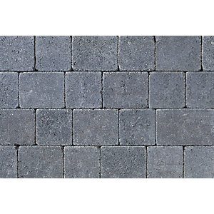Tobermore Tegula Charcoal decorative Concrete Block Paving 140x140x50mm.