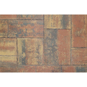 Tobermore Historic Concrete Paving Slabs Heather. Pack coverage 14.04m2.