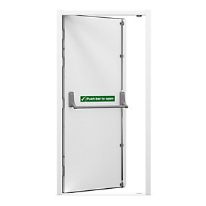 Lathams Fire Escape Steel Door Right Hand 1195 x 2020mm