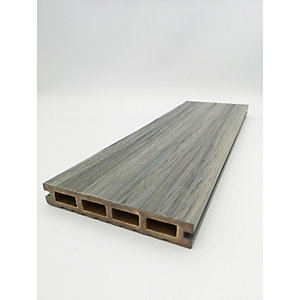HABITAT+ Wood Composite Decking 22mm x 135mm x 3600mm Grizedale Grey