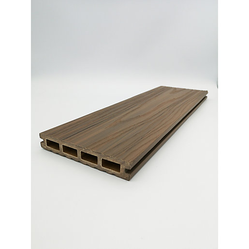 HABITAT+ Wood Composite Decking 22mm x 135mm x 3600mm Bowness Brown
