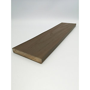 HABITAT+ Composite Skirting Trim 15mm x 100mm x 2400mm Bowness Brown