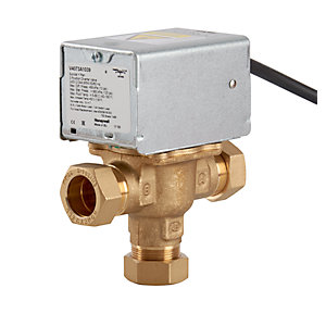 Honeywell 3 Port Motorised Mid Position Zone Plumbing Heating Valve 22mm V4073A1039/U