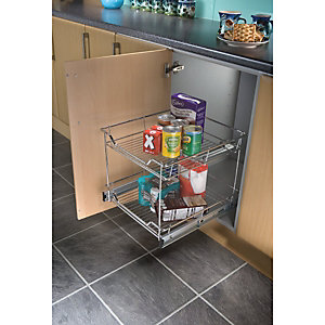 300 Base 2-TIER Pull Out Chrome Basket