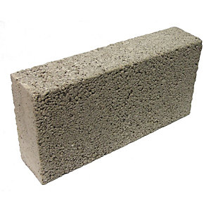 Solid Dense 7.3N Concrete Block Grey 140mm (Minimum Order Qty of 10)