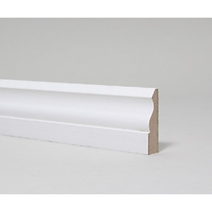 MDF Architrave Moulded and Primed Ogee 18mm x 69mm x 4.4m
