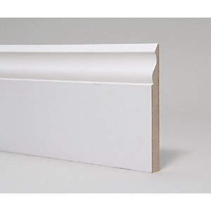 MDF Skirting Board Moulded and Primed Ogee 18mm x 144mm x 4.4m