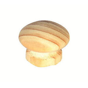 4Trade Beech Ring Knob 33mm Pack of 2