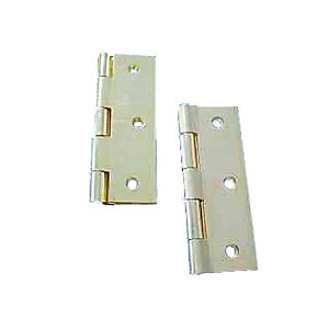 4Trade Fixed Pin Butt Hinge Chrome Plated 75mm Pair