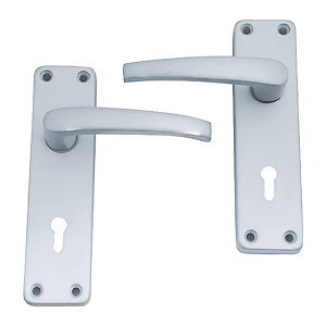 4Trade Manila Lever Lock Satin Anodised Aluminium