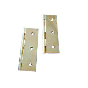 4Trade Solid Drawn Butt Hinge Brass 75mm Pack of 2