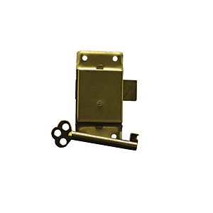 4Trade Cupboard Lock Electro Brass 63mm