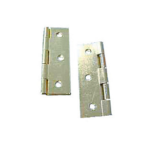 4Trade Butt Hinges Fixed Pin 75mm Electro Brass Pack of 2