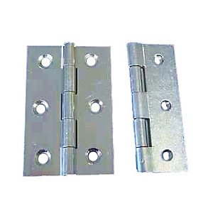 4Trade Fixed Pin Butt Hinge Zinc Plated 75mm Pack of 2