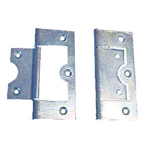 4Trade Flush Hinge Zinc Plated 63mm Pack of 2