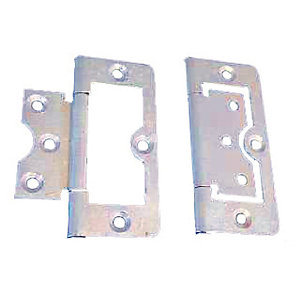 4Trade Flush Hinge Zinc Plated 75mm Pack of 2