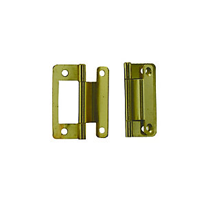 4Trade Hinges Flush Cranked Pack of 2 Electro Brass 50mm
