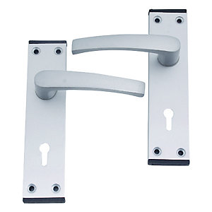 4Trade Oxford Lever Lock Satin Anodised Aluminium