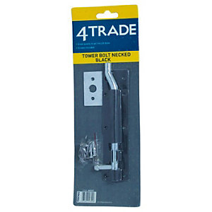 4Trade Tower Bolt Necked Black 203mm