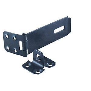 4Trade Safety Hasp & Staple Black 112mm