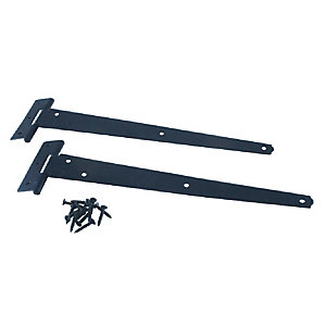 4Trade Tee Hinge Light Duty Black 300mm