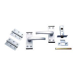 4Trade Oxford Complete Latch Door Pack of Satin Anodised Aluminium