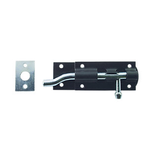 4Trade Tower Bolt Necked 100mm Black