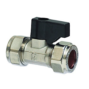 15mm Hand Operated Straight Isolating Valve Chrome