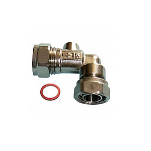 Angled Service Valve Chrome 15mm x 1/2in Pack 5
