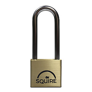 Squire LN4/2.5 Lion Brass Padlock Long Shackle 40mm