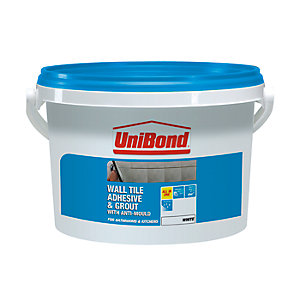 UniBond Anti-Mould Wall Tile Adhesive & Grout White 5L