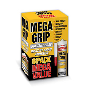 UniBond Megagrip Adhesive Beige 300ml - Carton of 24