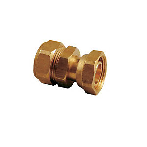 Swivel Straight Tap Connector Compression 15mm x 1/2in