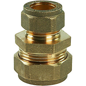 Compression Straight Coupling Reducer 22mm x 15mm - Bag of 10