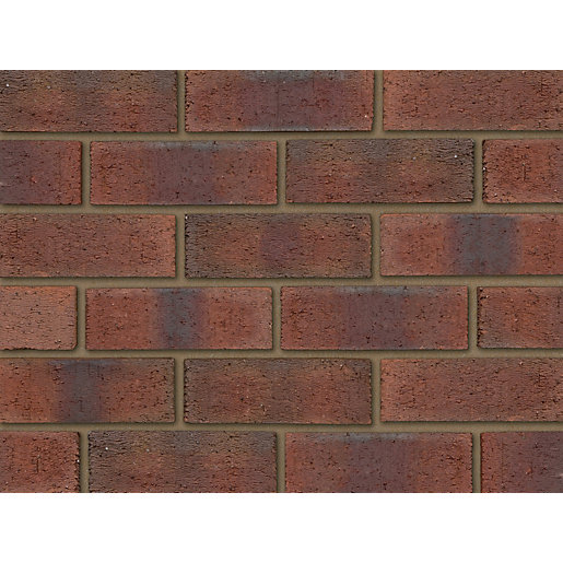 Ibstock Facing Brick Aldridge New Burntwood Red Rustic - Pack of 316