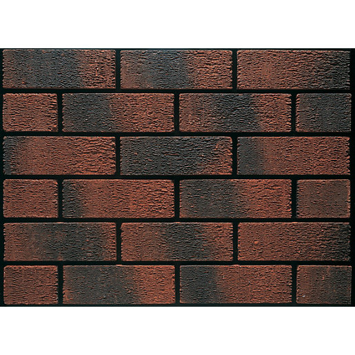 Ibstock Facing Brick Aldridge Anglian Ruskin Multi 73mm - Pack of 292